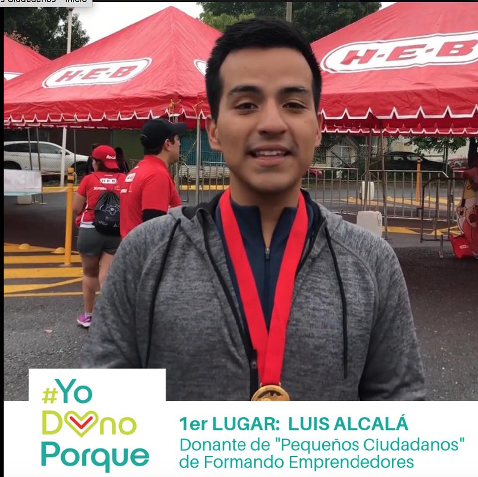 ¡Luis Alcalá García, ganador de #YoDonoPorque